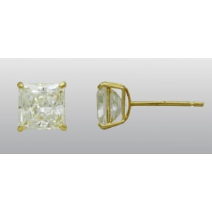 f53d30e08 National Manufacturing Corporation 10kt 5x5mm Square Cubic Zirconia ...