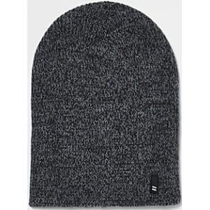 340292168 Mens Grey Twist Knit Slouch Beanie Hat