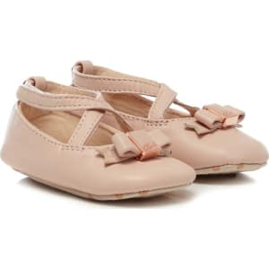 d5368c776 Baker by Ted Baker Baby Girls  Pink Leather Ballet Shoes from Debenhams.