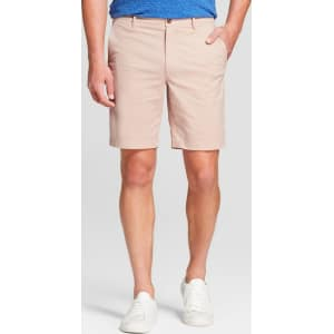 8e7c8701a1 Men's 9 Linden Flat Front Chino Shorts - Goodfellow & Co Peach (Pink ...