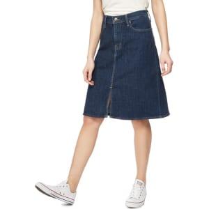 e3c0b794fd Levi's - Dark Blue A-Line Denim Skirt from Debenhams.