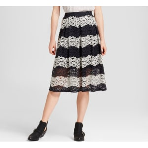 f5a1e4ab9 Women's Lace Midi Skirt - Who What Wear Black Stripe 6 from Target.