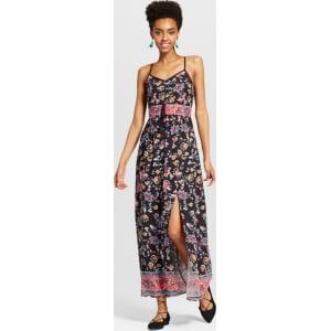 da0cfb5d2a Women s Button-Front Maxi Dress - Xhilaration (Juniors ) Black Xl ...