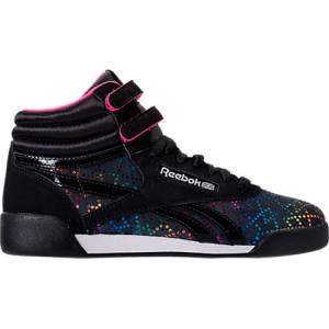 2c49f7bbfaeb4 Reebok Girls  Grade School Freestyle Hi Rainbow Casual Shoes