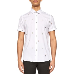bfe8e03c6 Ted Baker Parcoop Parrot Fil Coupe Regular Fit Button-Down Shirt ...