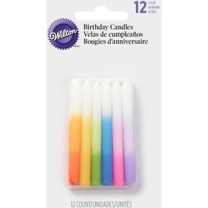 Wilton Rainbow Ombre Birthday Candles