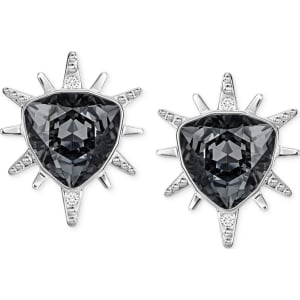 70955d6b6 Swarovski Silver-Tone Black Crystal Starburst Stud Earrings from Macy's.