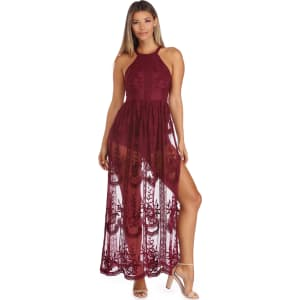 98437bf8e7cf Burgundy Simply Lace Shmaxi from Windsor.