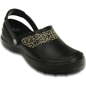 06447960743816 Crocs Black   Gold Mercy Work Shoes from Crocs.