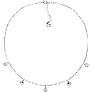 63ae383ecfce9 Melissa Odabash Glass Crystal Drop Disc Necklace
