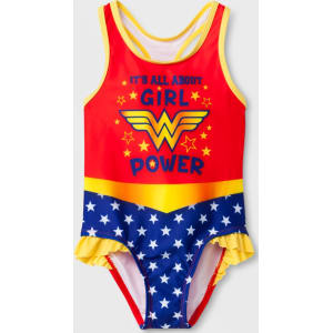 8a3107a6c8 Toddler Girls' Dc Comics Wonder Woman One Piece Swimsuit - Red 2t ...