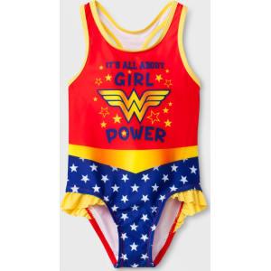 0bb294ec508e5 Toddler Girls' Dc Comics Wonder Woman One Piece Swimsuit - Red 2t ...