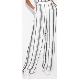 sale usa online 2018 sneakers price Express Womens Mid Rise Striped Linen-Blend Wide Leg Pant