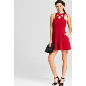 29c70a85d Women's Cut Out Neck Skater Dress - Lots of Love by Speechless ...