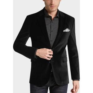 d07f8a03e4686 Joseph Abboud Black Velvet Modern Fit Casual Coat from Men s Wearhouse.