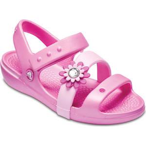 Crocs Party Pink Girls  Keeley Petal Charm Sandal (Children S) Shoes ... 56c279fb50