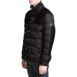 27215e0db Men's Moncler Clovis Mixed Media Quilted Down Jacket, Size 2 - Black