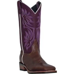 bb7404912b2 Laredo Women s Gorge Tan Purple 11 Caimen Cowboy Boot