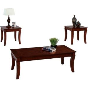 Corona Occasional Table Set   Medium Cherry (Red)   Progressive Furniture