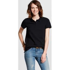 05e07947 Women's Short Sleeve Polo Shirt - Mossimo Supply Co. Black Xl from ...