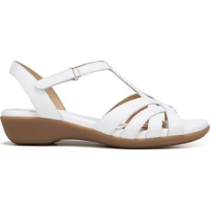 e124dc18ea2d Naturalizer Women s Nella Medium Wide Sandals (White Leather) from ...