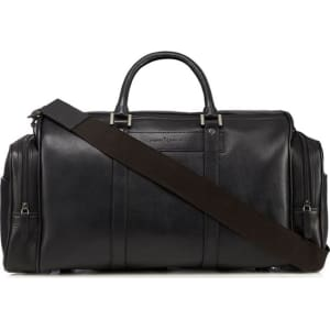 2c0906cfc207 J by Jasper Conran Black Leather Holdall Bag from Debenhams.
