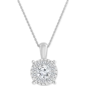 Trumiracle diamond cluster pendant necklace 34 ct tw in 14k trumiracle diamond cluster pendant necklace 34 ct tw in 14k white gold aloadofball Images