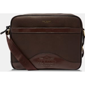 08bbbe13d6bc Embossed Document Bag Chocolate from Ted Baker.