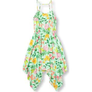 a1076cc05687 Girls Womens Mommy And Me Sleeveless Tropical Floral Print Hanky Hem ...