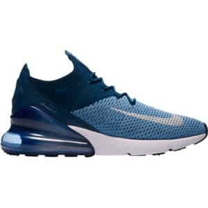 Nike Air Max 270 Flyknit - Mens - Work Blue White Brave Blue Blue ... a988e57a839a