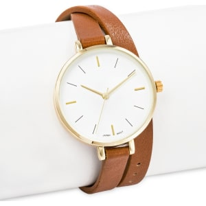 64a040286 Women's Thin Double Wrap Strap Watch Brown - Merona from Target.