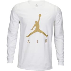 c18b298b2bc Jordan Jsw Jumpman Air Long Sleeve T-Shirt - Mens - White/Metallic ...
