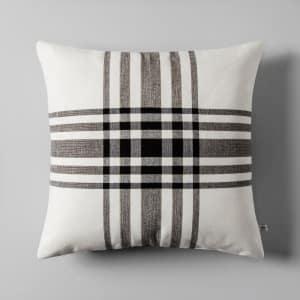 Plaid Throw Pillow 18 Cream Ivory Black Hearth Hand With Magnolia