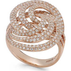 08a9e9c4d45c Pave Rose by Effy Diamond Spiral Ring in 14k Rose Gold (1-1 4 Ct ...