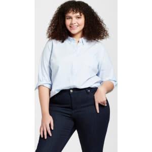 625f56672 Women's Plus Size Long Sleeve Camden Button-Down Shirt - Universal ...