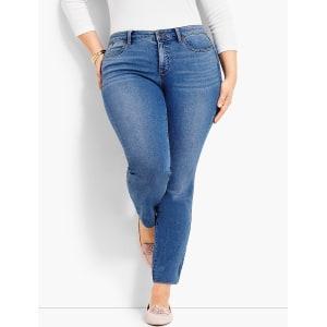 52b0a5022ce Talbots  Plus Size Exclusive Comfort Stretch Denim Slim Ankle Jeans ...