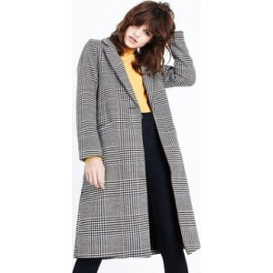 4eafce79cd53 Black Prince of Wales Check Longline Coat New Look from New Look.
