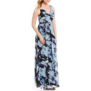 c7711adda72 Ignite Evenings Beaded Waist Floral Print Chiffon Maxi Dress from Dillard s.
