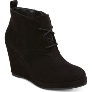 3e638714fd1 Women s Dv Terri Wide Width Lace Up Wedge Booties - Black 6w