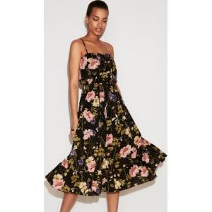 fde68157509 Express Womens Petite Floral Empire Waist Midi Dress from Express.