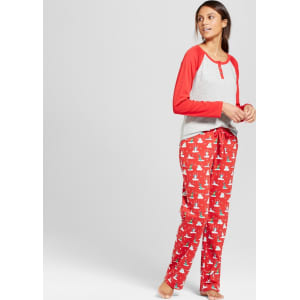 ced443d3d2 Women s 2pc Pajama Set - Wondershop Red Pop Xl from Target.