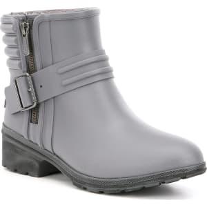 Special Offers Women Sperry Women's Aerial Beck Outside Zip Detail Block Heel Rain Boots Grey