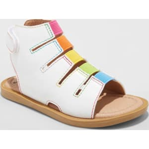 4ba8a1414eb4 Toddler Girls  Just Buds Bette Gladiator Sandals - Rainbow White 5 ...