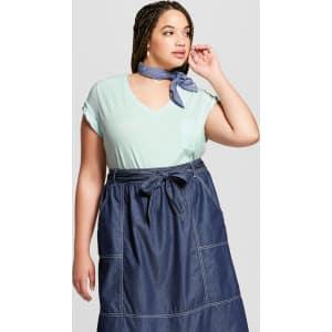 970568d7e4 Women s Plus Size Monterey Pocket V-Neck Short Sleeve T-Shirt - Universal  Thread Mint (Green) 1x