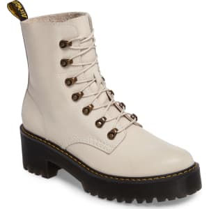 clearance prices outlet great deals 2017 Women's Dr. Martens Leona Heeled Boot, Size 11us/ 9uk - White