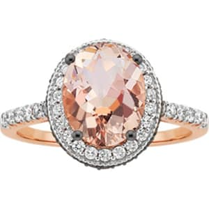 daef76c8f Kallati Morganite and 1/2 Ct. Tw. White and Cocoa Diamond(r) Fashion ...
