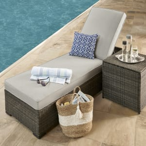 outdoor grand resort monterey chaise lounge grey gray from sears