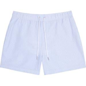 64e3620258 Reiss Seaside - Striped Swim Shorts in Soft Blue, Mens from Reiss.