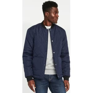 Old Navy Quilted Bomber Jacket for Men - Lost at Sea Navy from Old ... : navy quilted bomber jacket - Adamdwight.com