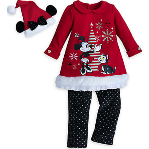 ad26912d4 Minnie Mouse Holiday Knit Dress Set for Baby from Disney Store.